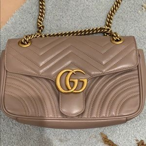 GUCCI Small GG Marmont Matelasse Shoulder Bag